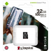Карта памяти MicroSDHC Kingston 32 GB 100Mb/s, class 10 (без адаптера)